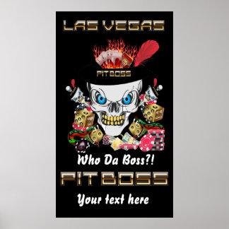 Vegas Casino Pit Boss View Artist Comments Print