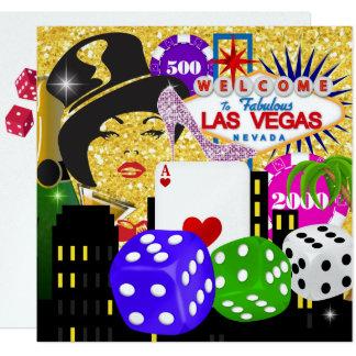 Vegas-Casino-Poker Party Invitation