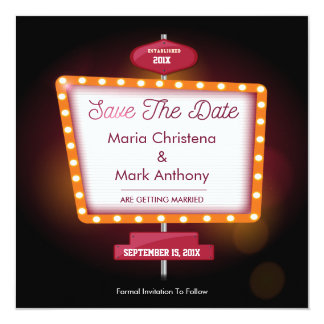 Vegas Casino Themed Save The Date Announcement