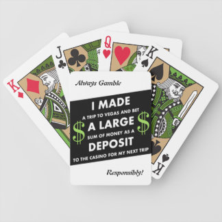 Vegas Deposits / Responsibly Bicycle Playing Cards