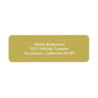 Vegas Gold Contemporary Solid Color Return Address Label