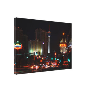 Vegas Paradise Road Canvas Print