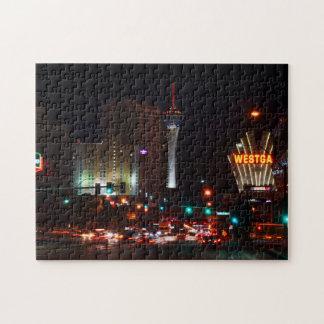 Vegas Paradise Road Jigsaw Puzzle