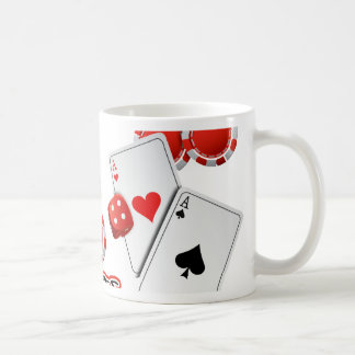 Vegas Poker Chips and Dice Coffee Mug