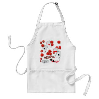 Vegas Poker Chips and Dice Standard Apron