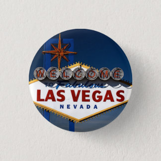 Vegas Sign Dusk 1 Inch Round Button