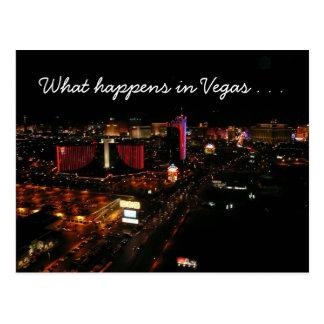 vegas strip happenings postcard