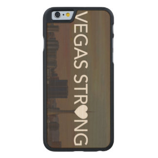 Vegas Strong Carved Maple iPhone 6 Case