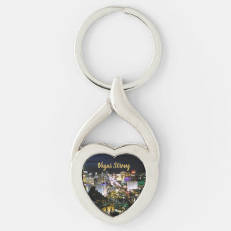 Vegas Strong Heart Shaped Memento Keychain