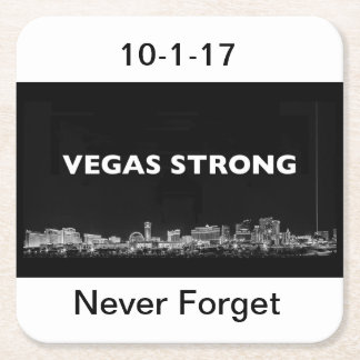 Vegas Strong Square Paper Coaster