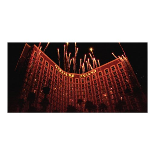 Vegas - Treasure Island Customized Photo Card
