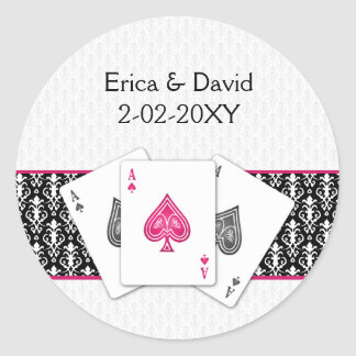 Vegas wedding envelope seal