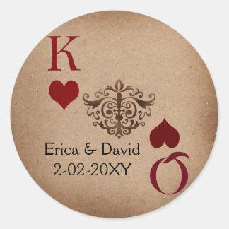 Vegas wedding envelope seal classic round sticker