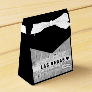 Vegas Wedding Gift Ideas - Black Wood Favor Box