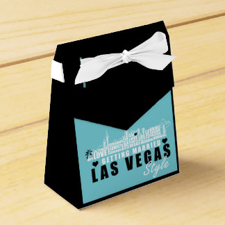 Vegas Wedding Gift Ideas - Favour Boxes Teal