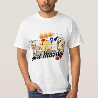Vegas Wedding Just Married T-Shirt