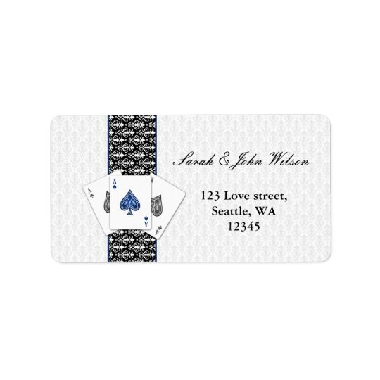 vegas wedding ,return address label