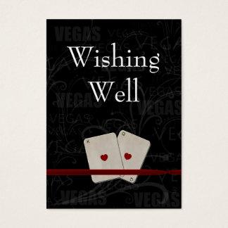 vegas wedding wishing well cards