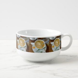 Vegetabla Soup With Sour Cream Soup Mug