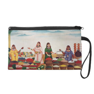 Vegetable and Spice Market at Benares, c.1840 (gou Wristlet Clutch