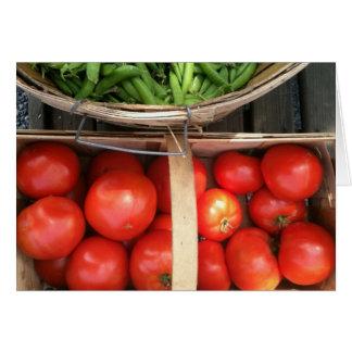Vegetable Basket Harvest Card
