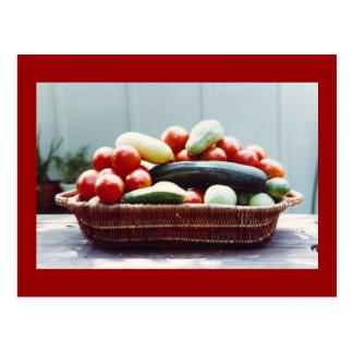 Vegetable Basket Postcard