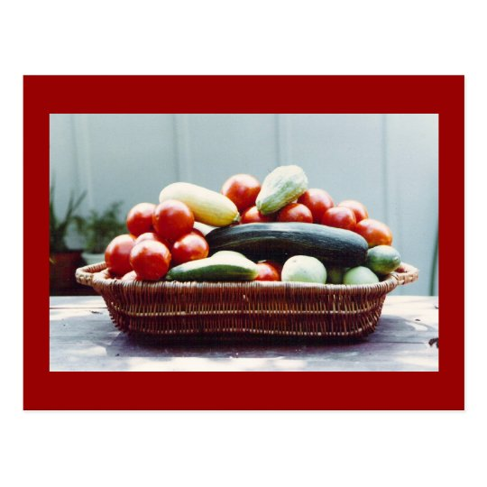 Vegetable Basket Postcard