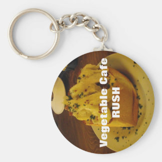 Vegetable Cafe RUSH Basic Round Button Keychain