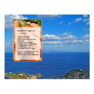 Vegetable Dip Recipe Postcard