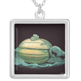 Vegetable dish in the form of a pumpkin silver plated necklace