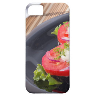 Vegetable dishes of stewed eggplant and fresh red iPhone 5 cover