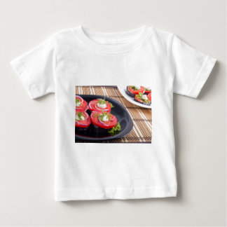 Vegetable dishes of stewed eggplant and tomato baby T-Shirt