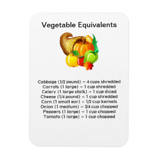 Vegetable Equivalents Flexi Magnet