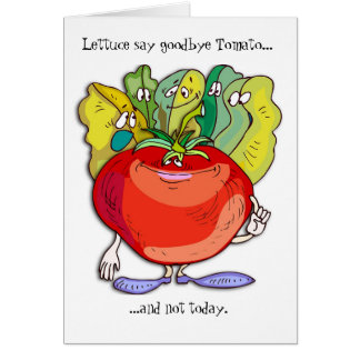 vegetable farewell card
