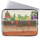 Vegetable garden soil earth layers art laptop case