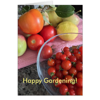 Vegetable Gardening Greeting Card