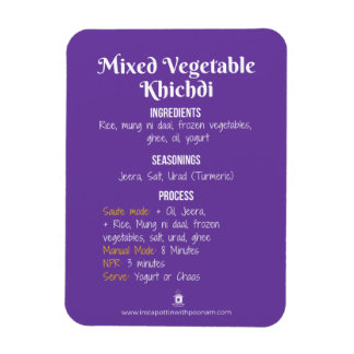 Vegetable Khichdi Recipe Magnet