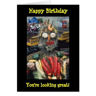 Vegetable Man Birthday Card