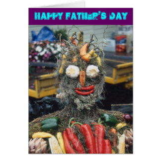 Vegetable Man Father's Day Card