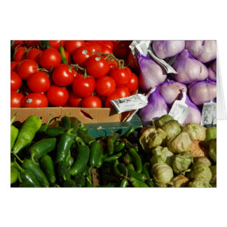 Vegetable Market Stall Card