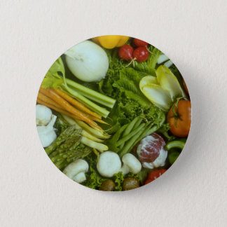 Vegetable medley 2 inch round button