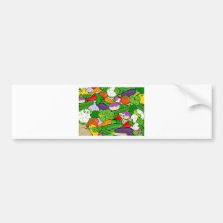 Vegetable Pattern Bumper Sticker