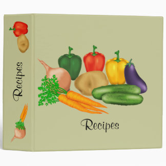Vegetable Recipe 3 Ring Binder