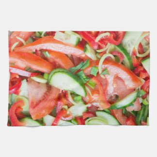 Vegetable salad kitchen towel