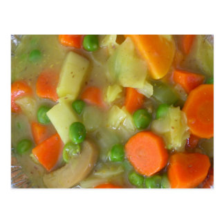 Vegetable Soup Photography Postcard
