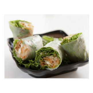 Vegetable Spring Rolls Postcard