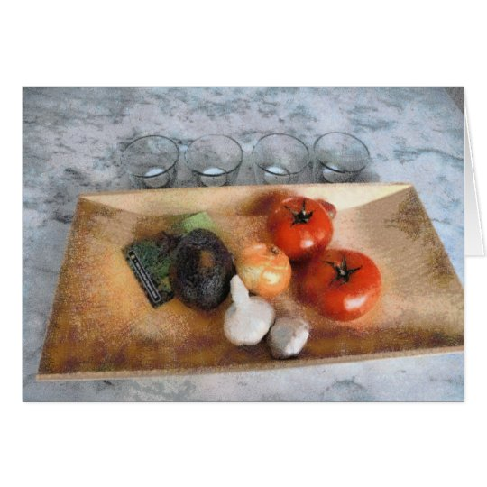 Vegetable Still Life Card