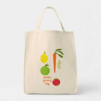 Vegetable Themed Reusable Grocery Tote
