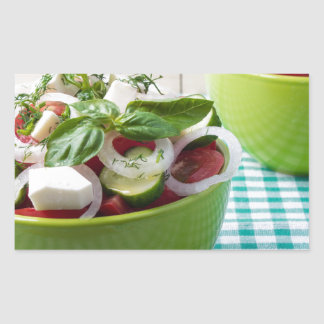 Vegetable vegetarian salad with raw tomato