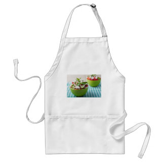 Vegetable vegetarian salad with raw tomato standard apron